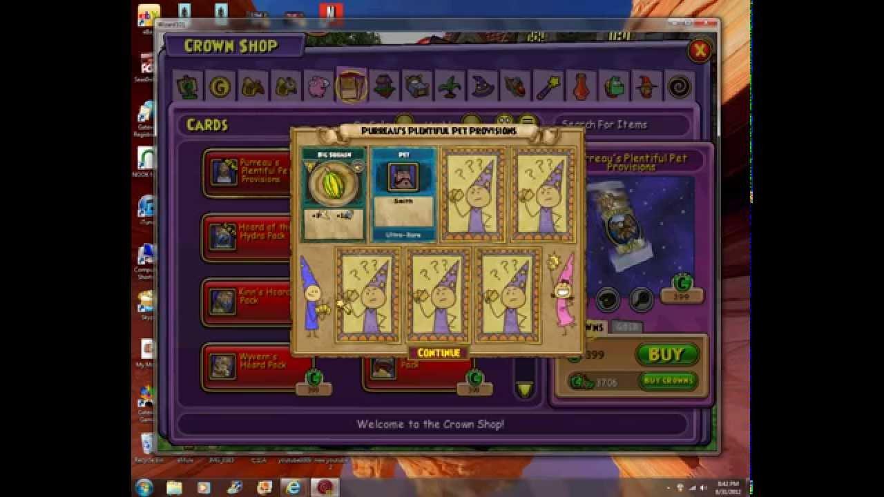 Wizard101 Opening Purreau's Pet Pack | FunnyDog TV