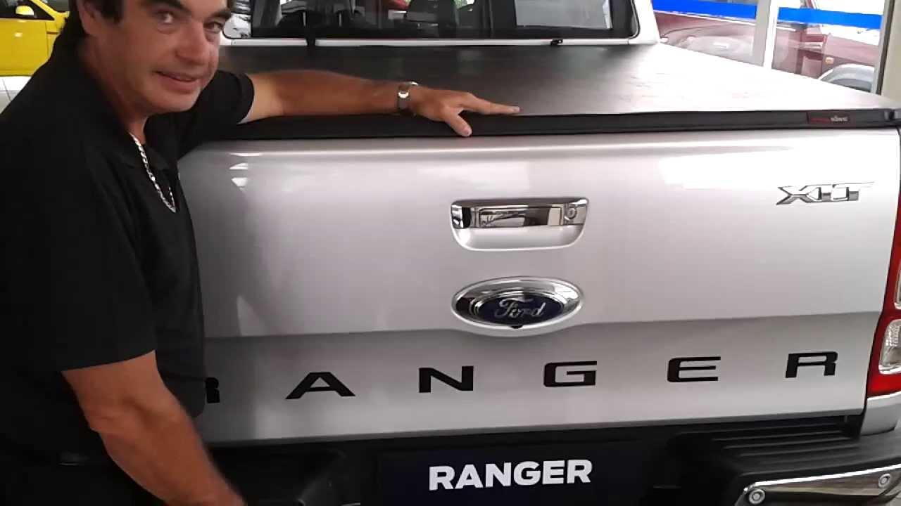 Tonneau King - Ford Ranger double cab Soft Tonneau Cover - YouTube