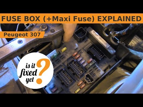 fuse box (incl maxi fuse) explained peugeot 307 sw youtube Peugeot 207 Interior