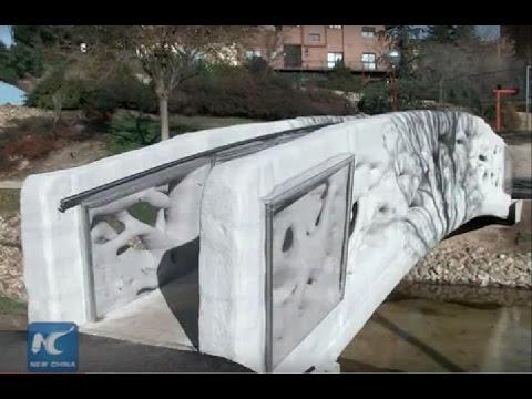 Spain unveils world's 1st 3D-printed pedestrian bridge
