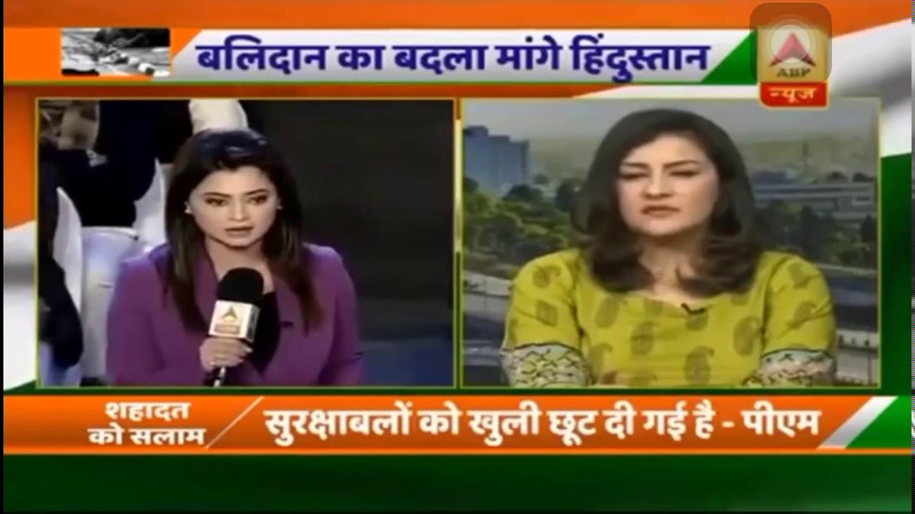 Pakistani Journalist Mona Alam Bashing India Anchor & Panel