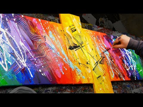 HOW TO make an AMAZING Abstract Painting With Very BRIGHT COLORS | Sexamental | John Beckley