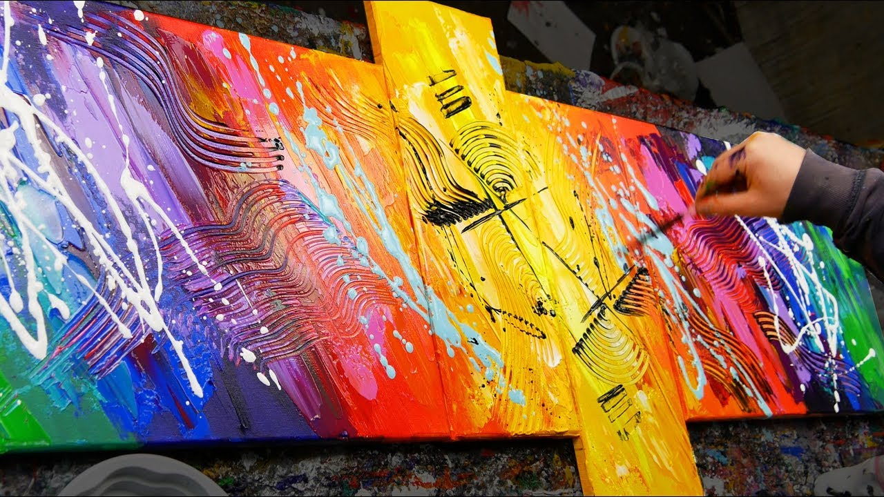 Bright Colours Painting How To Make An Amazing Abstract Painting With Very Bright Colors Sexamental John Beckley
