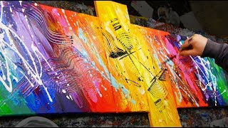 HOW TO make an AMAZING Abstract Painting With Very BRIGHT COLORS   Sexamental   John Beckley