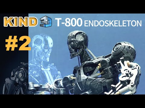 [#2 - Completion?] 터미네이터 T-800 만들기 / Create detailed T-800 with 3D printer / Terminator T-800