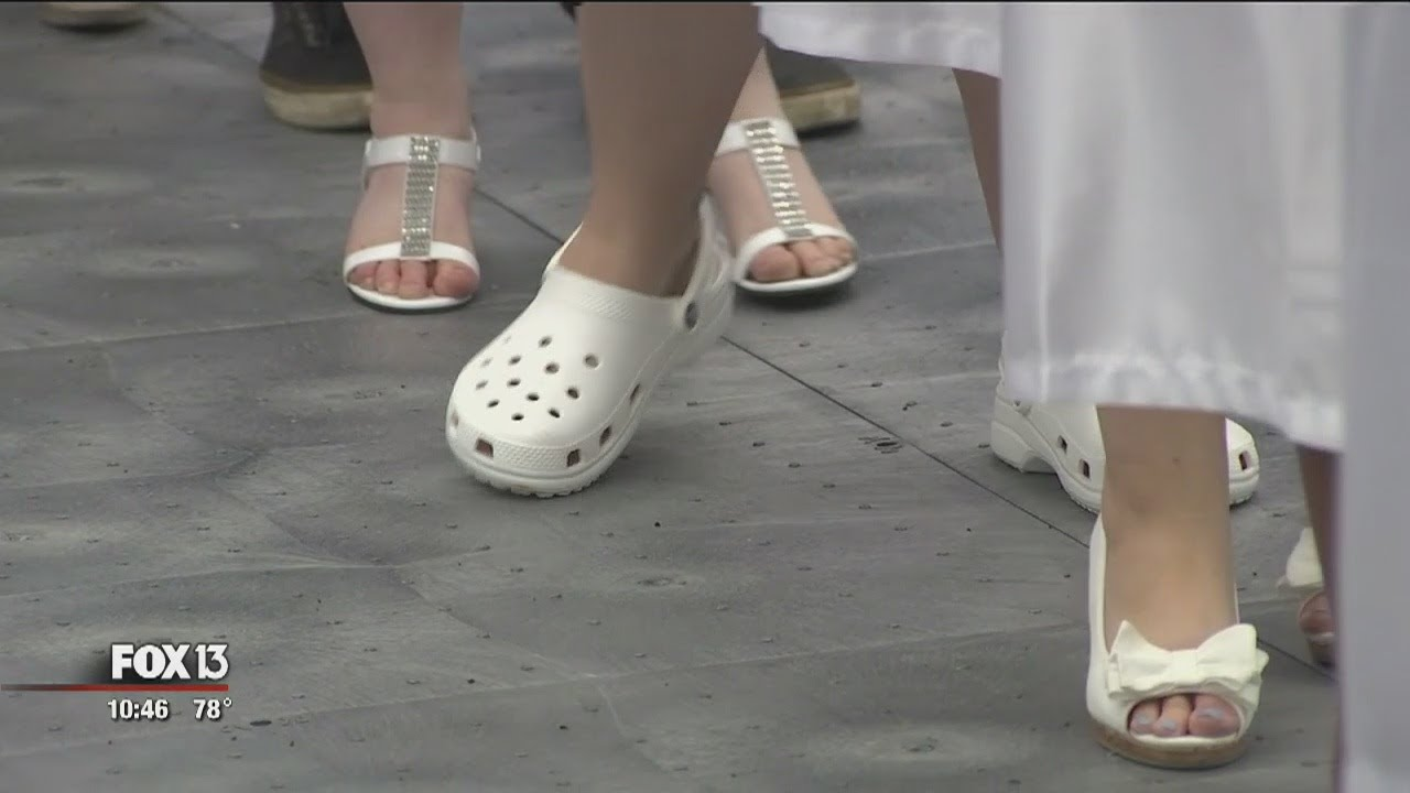 promise of white shoes for grads