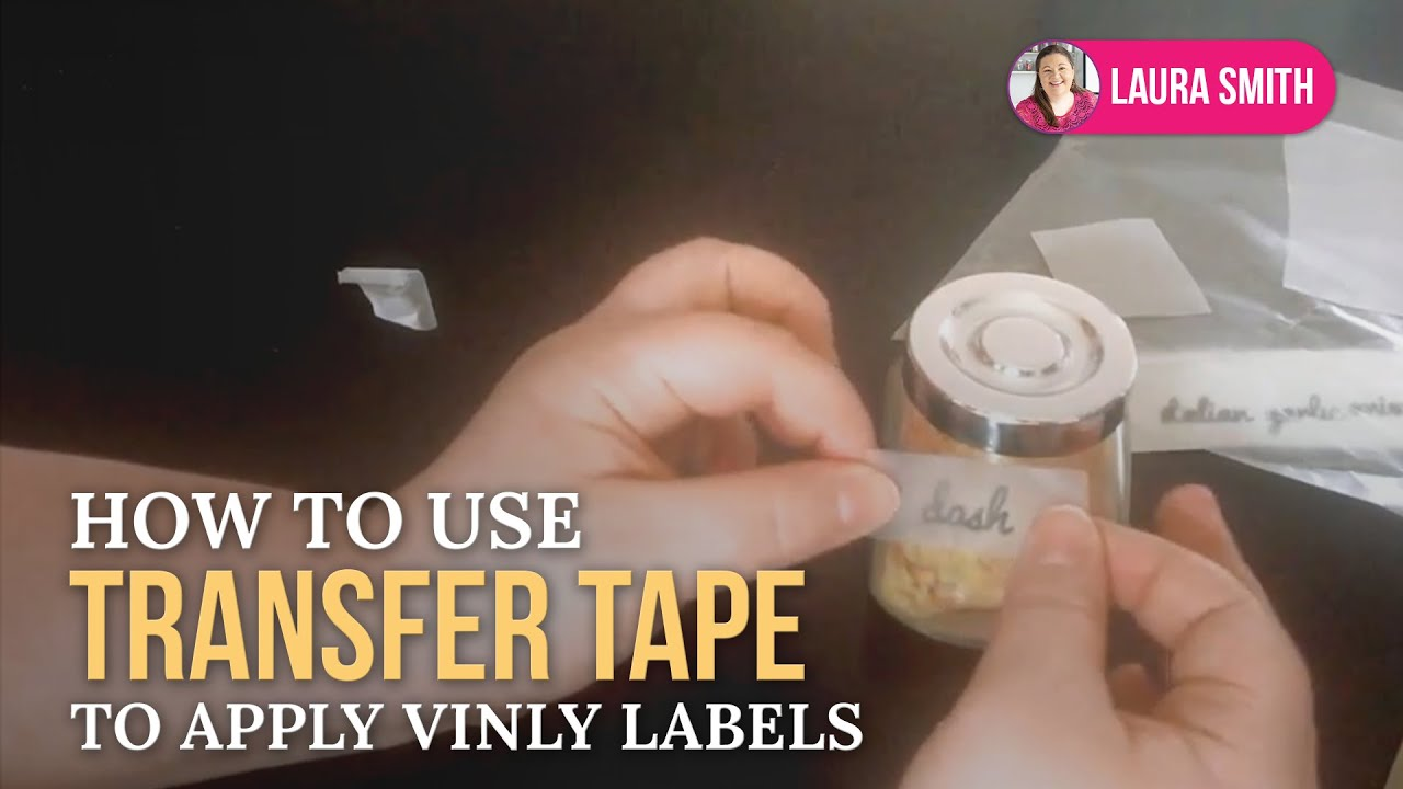 How To Use Transfer Tape To Apply Vinyl Labels YouTube - Transfer tape for vinyl decals