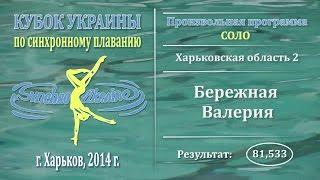 Синхронное плавание, Соло, Бережная Валерия, Кубок Украины 2014, Произвольная программа