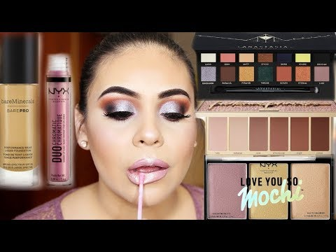 TRYING NEW MAKEUP 2018: FULL FACE FIRST IMPRESSIONS | JuicyJas