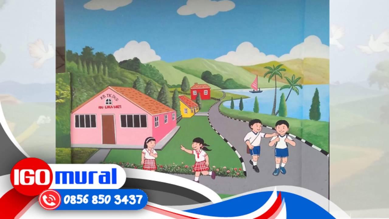WA 62 857 1027 2813 Indosat Lukisan Sekolah Gambar Lukisan