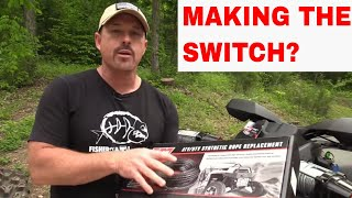 Fisher's Tip for Changing Wire to Synthetic Rope on your Winch