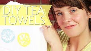 Diy Lemon Stamped Tea Towels | Broke But Bougie