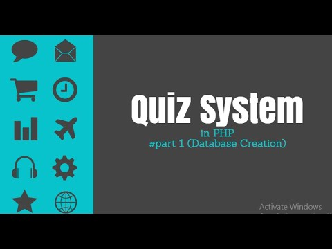 Online Quiz System project in php -part#1