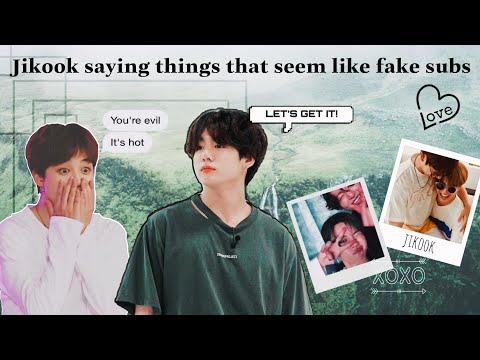 Jikook saying things that seem like a fake subs