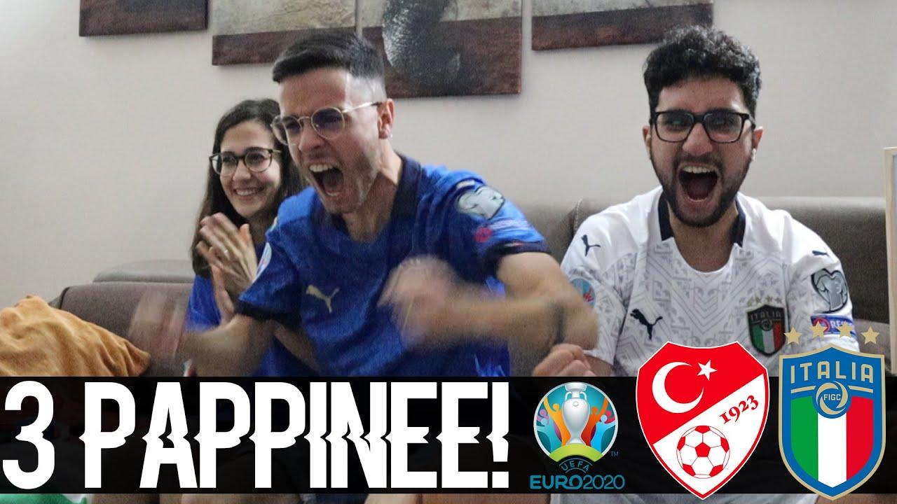 3 PAPPINEEE!! INIZIO COL BOTTOOO!! TURCHIA-ITALIA 0-3 | LIVE REACTION EURO 2020
