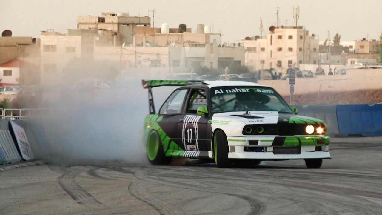 Drift Racing In Jordan Red Bull Car Park Drift Youtube