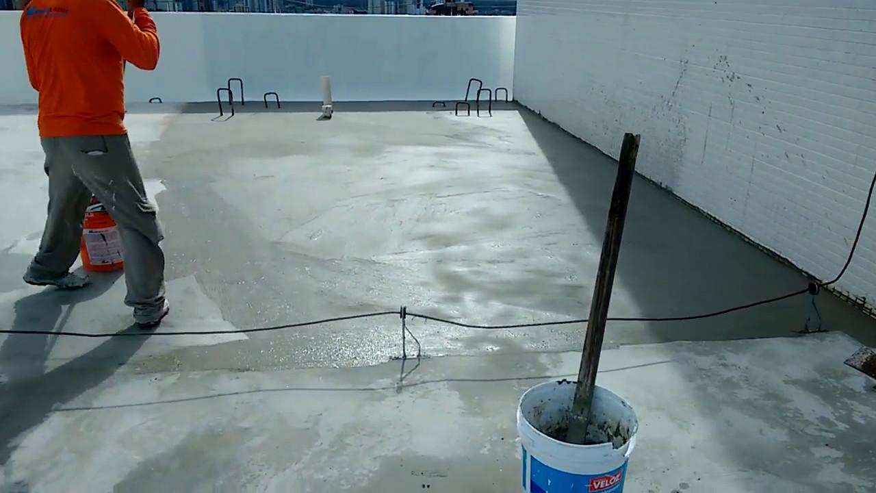 impermeabiliza o de laje exposta com manta l quida On impermeabilizante para estanques de agua