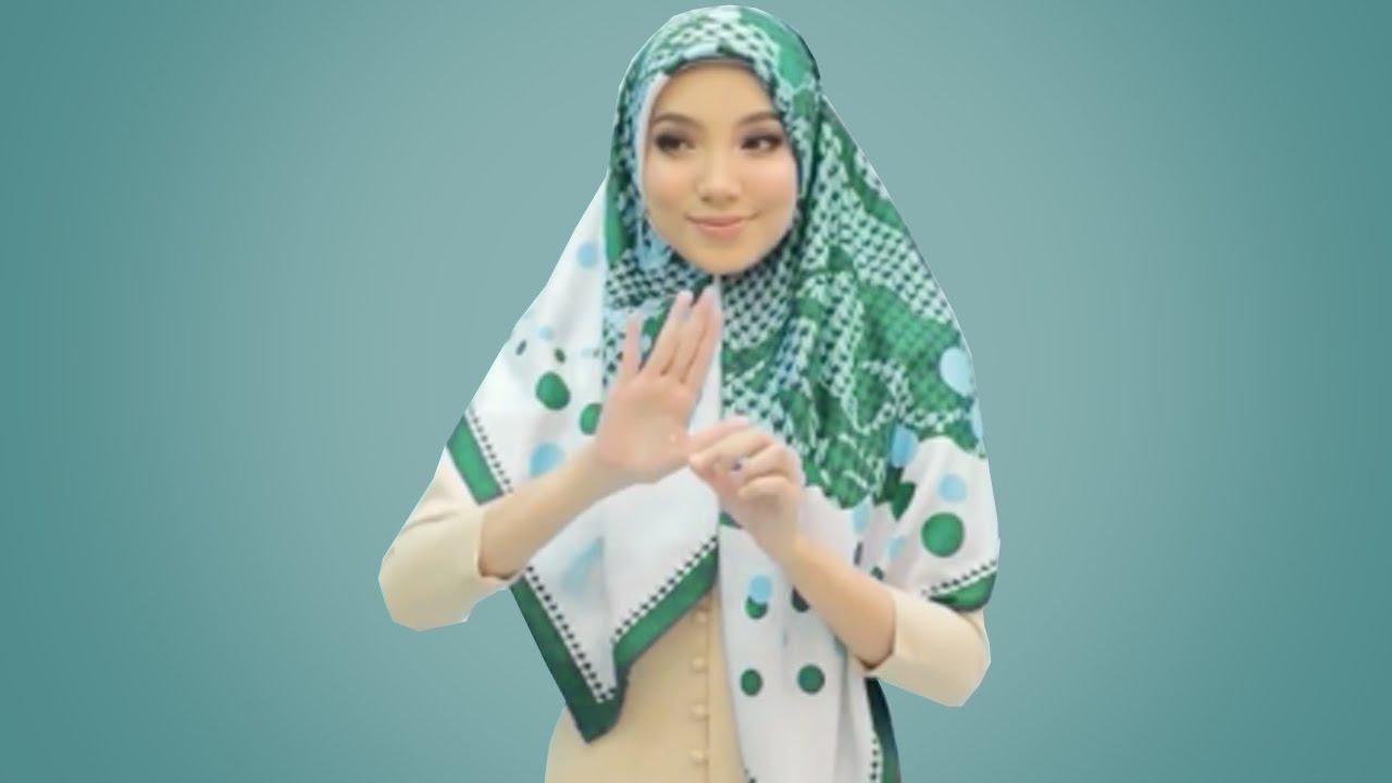 10 Tutorial Hijab Segi Empat Simple Mudah Cantik Dan Kekinian Terbaru