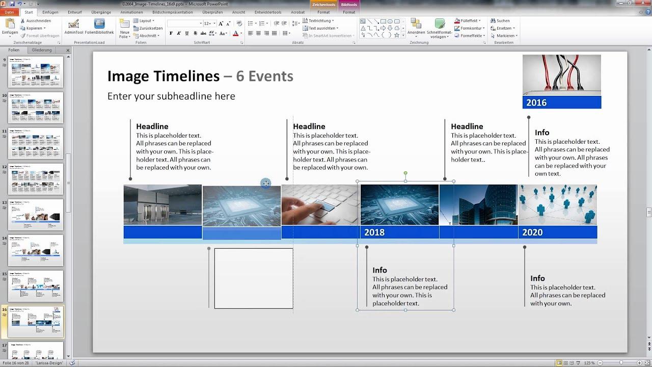 PowerPoint Zeitstrahl Vorlage - YouTube