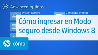 Cómo ingresar en Modo seguro desde Windows 8 | HP Computers | HP