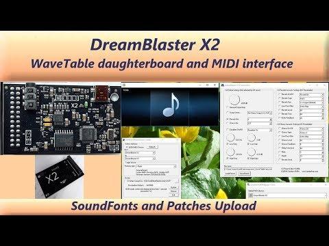 DreamBlaster X2 - WaveTable daughterboard and USB MIDI