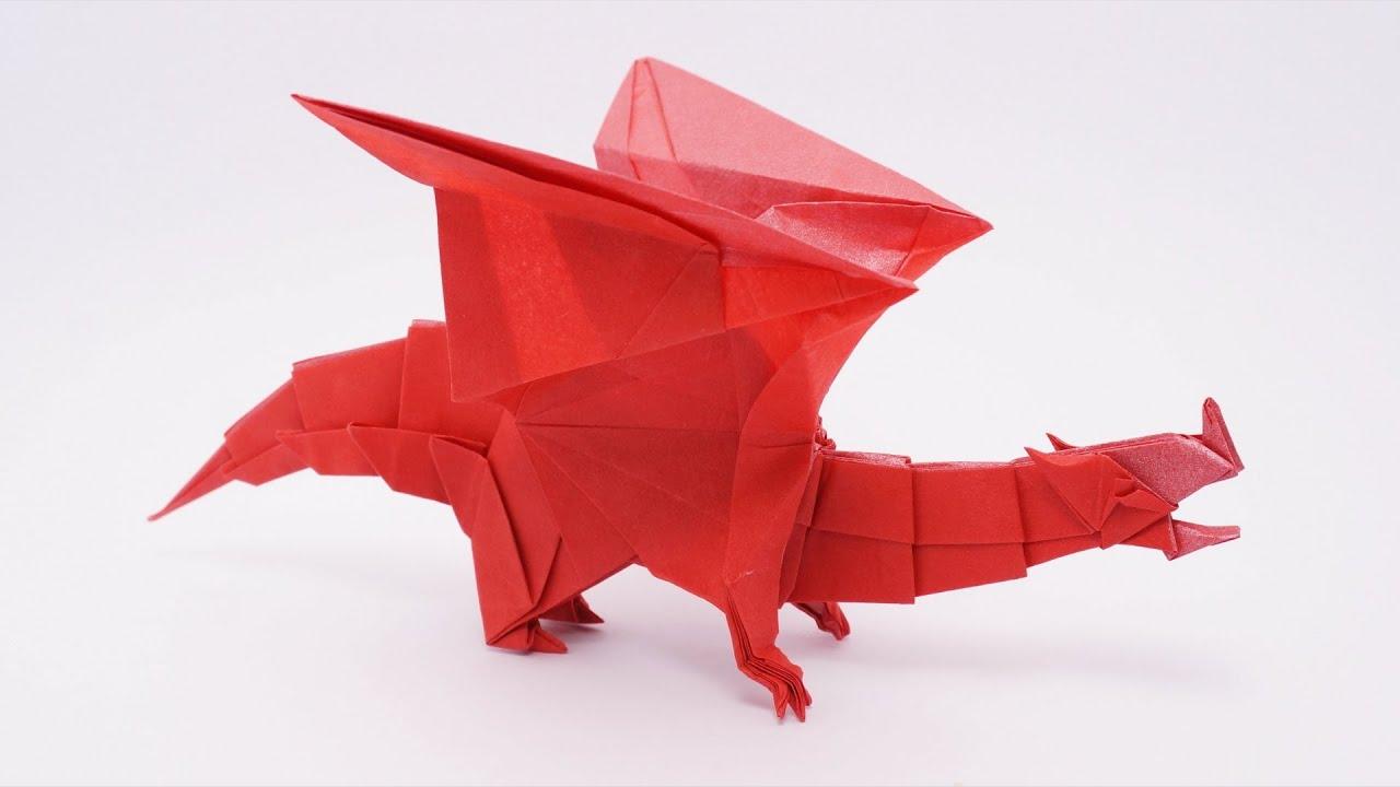 Origami Devil Dragon v2 - Time-lapse (Jo Nakashima) - YouTube - photo#31