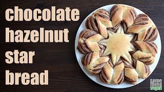 chocolate hazelnut star bread Something Vegan