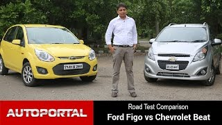 Ford Figo vs Chevrolet Beat Road Test Comparison - Autoportal