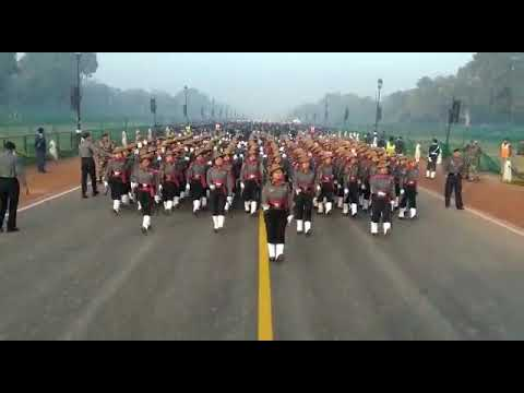 Assam Rifles Ladies Contingent Republic Day Parade(practice today) in Rajpat