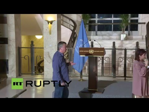 LIVE: Press statement by UN Special Envoy for Syria Steffan