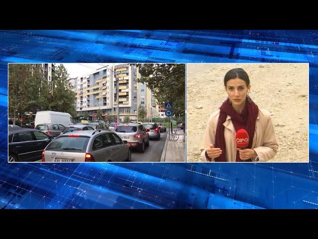 """Ora News - Devijimi i qarkullimit për shkak të punimeve në sheshin """"Shqiponja"""""""