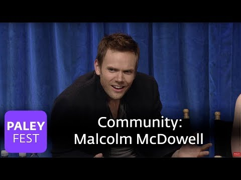 Community  Joel McHale on Working with Malcolm McDowell