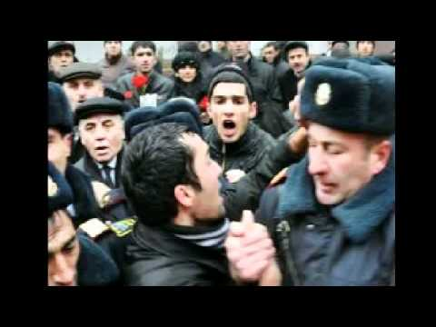Azerbaijan people in middle protest. Hungary 2013.