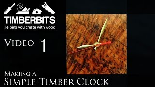 Making A Simple Timber Clock By Hand - Timber Selection Tiger Myrtle - Part 1