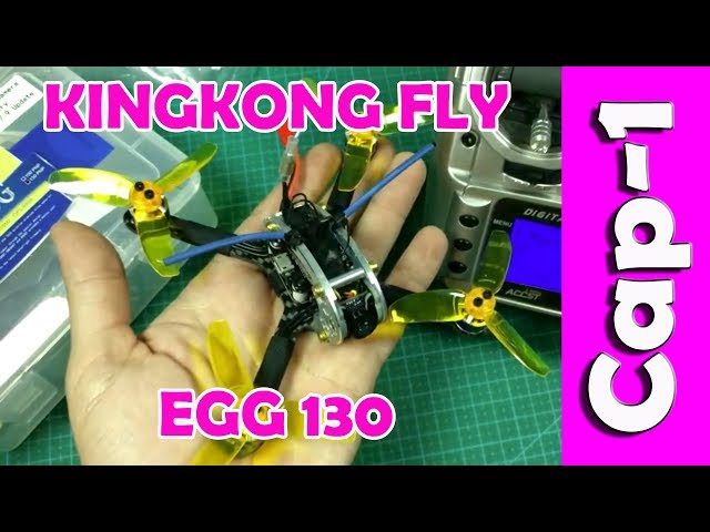 KINGKONG FLY EGG 130 2018 MiniDrone de Carreras - PNP NO RECEPTOR