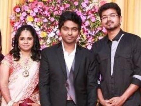 Vijay, AR Rahman @ Gv Prakash and Saindhavi Marriage Reception | Digital Album | Shankar, MK Stalin