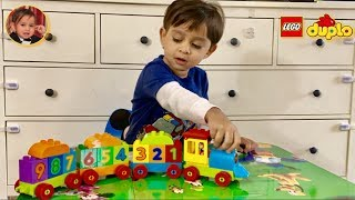 Learn Numbers with Ryan | Lego Duplo Number Train | Kid's Toy Train | Building Block Numbers