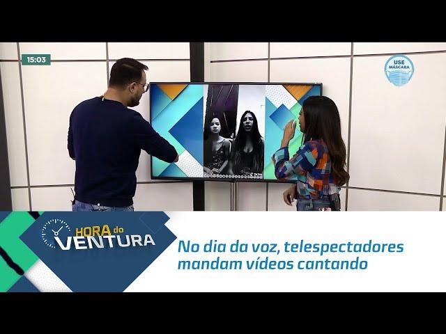 No dia da voz, telespectadores mandam vídeos cantando (perto do encerramento do programa)