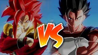 Dragon Ball Xenoverse - SSJ4 Gogeta vs Super Vegito Gameplay (PS4)