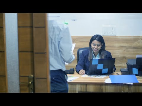A male subordinate enters his female boss office cabin for a m... | Indian Stock Footage | Knot9