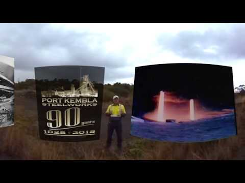 Where the Port Kembla Steelworks first began - in 360 degrees.