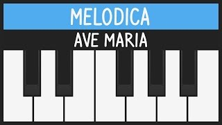 ave maria schubert how to play easy melodica tutorial youcanplayit com