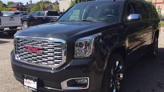 2020 GMC Yukon XL Denali Retractable Running Boards Dual Blu Ray DVD Black Oshawa ON Stock #200065