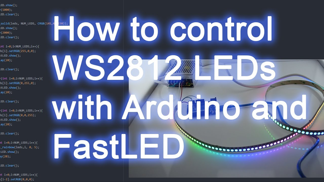 How To Control Ws2812b Rgb Leds With Fastled And Arduino Youtube Led Colour Controller Connection Diagram