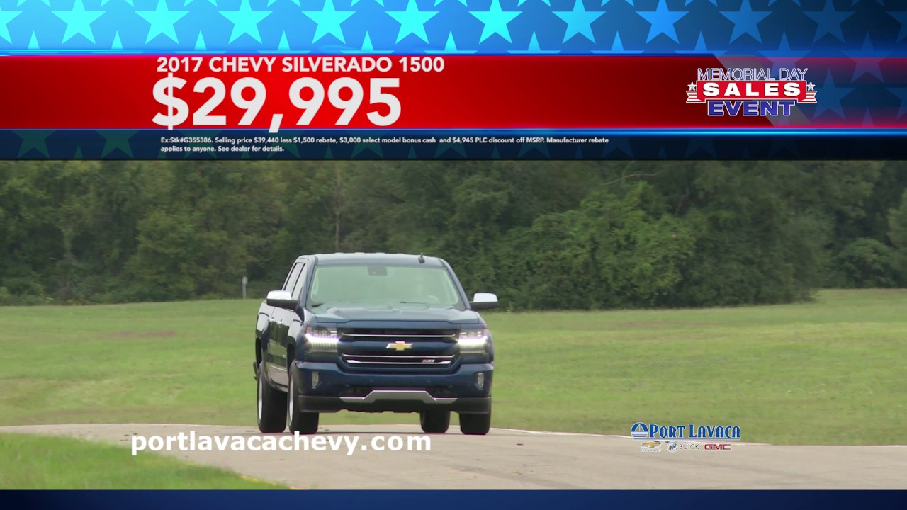 Port Lavaca Chevy Memorial Day Sale // May 2017 - YouTube