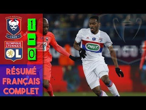 CAEN 1-0 LYON / RÉSUMÉ FRANÇAIS COMPLET HD