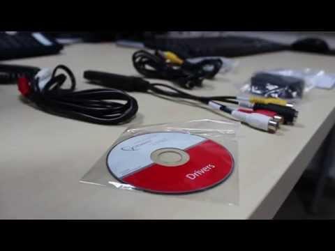 Videorecorder aansluiten op een videograbber.