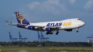 Rare Atlas Air 747-400F Landing at Brisbane Airport