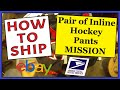 How To Ship Indoor Hockey Pants MISSION | Easy, Fast & Cheap | USPS Priority Mail Padded Flat Rate