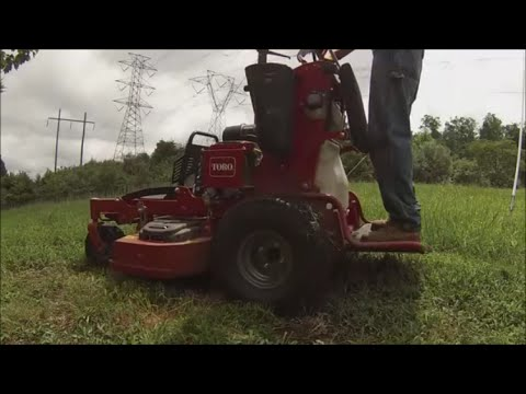 Mowing tall grass with mulch kit, Lawn Care Vlog #21
